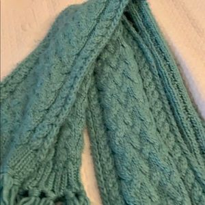 Turquoise colored scarf